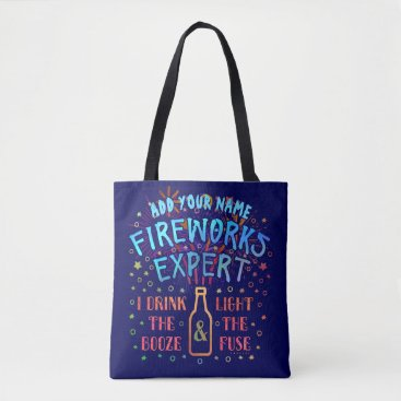 USA Themed Funny 4th of July Independence Fireworks Expert V2 Tote Bag