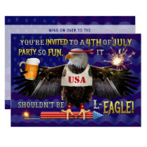 Funny 4th of July Party | Eagle Beer Fireworks Invitation