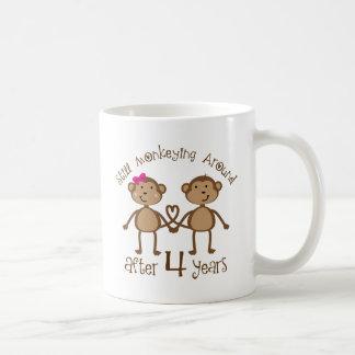 Funny 4th Wedding Anniversary Gifts Coffee Mug