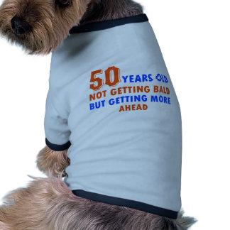 funny 50 years birthday pet t shirt