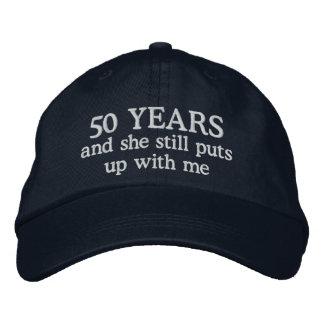 Funny 50th Anniversary Mens Hat Gift Cap
