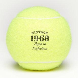 1968 gifts on zazzle 1968 Yenko Nova funny 50th birthday 1968 aged to perfection custom tennis balls
