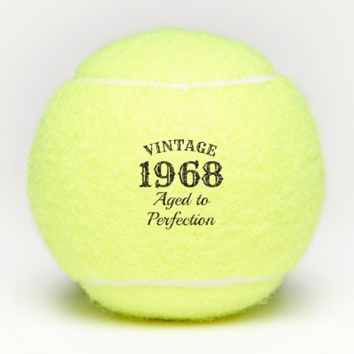 Funny 50th Birthday 1968 Aged to perfection custom Tennis Balls
