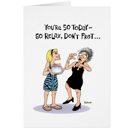 Funny 50th Birthday Card for Female