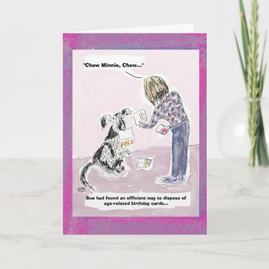 Funny 50th Birthday Cartoon Greeting Card Zazzle