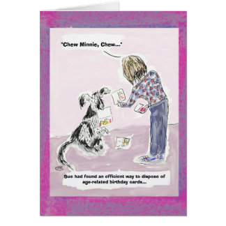 Funny 50th Birthday Cartoon Greeting Card