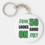 Funny 50th Birthday Gag Gift Basic Round Button Keychain