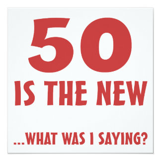 Funny 50th Birthday Gag Gifts Card