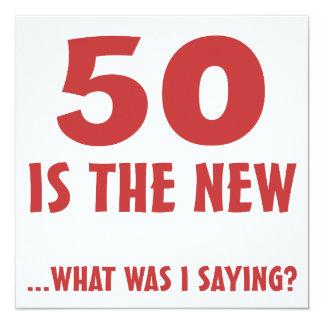 Funny 50th Birthday Gag Gifts Card