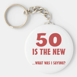 Funny 50th Birthday Gag Gifts Keychain