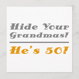 Funny 50th Birthday Gifts For Him Card