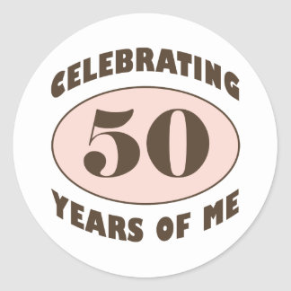 Funny 50th Birthday Gifts Classic Round Sticker
