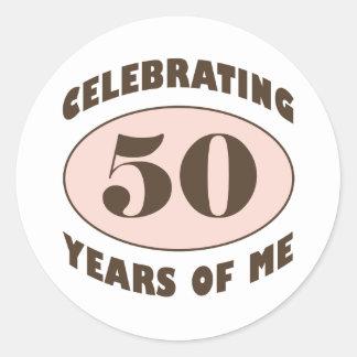 Funny 50th Birthday Gifts Round Sticker