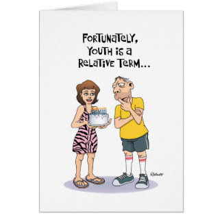 Funny 50th Birthday Greeting for Him Greeting Card