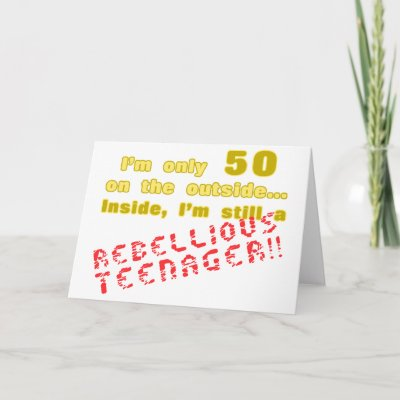 Funny 50th Birthday Present Card by birthdaygifts