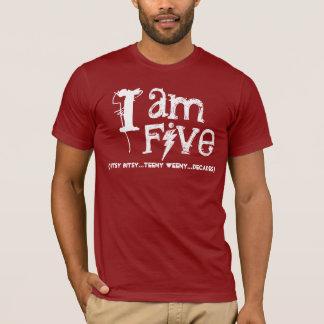 Funny 50th  Birthday Shirt  I am Five Decades
