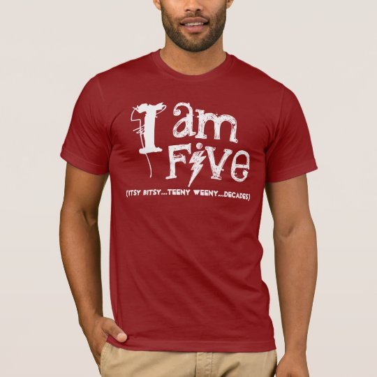 Funny 50th  Birthday Shirt  I am Five Decades