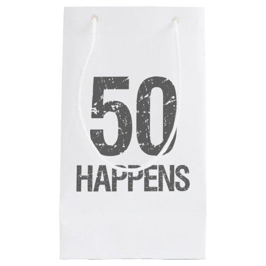 Funny 50th Birthday Small Gift Bag