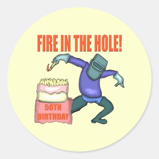 Funny 50th Birthday Sticker