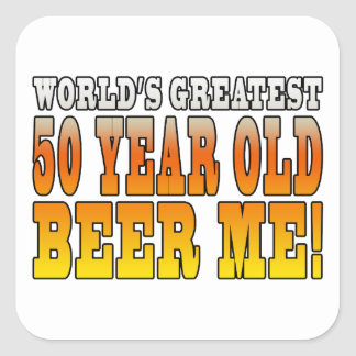 Funny 50th Birthdays : Worlds Greatest 50 Year Old Square Sticker