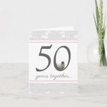 Funny 50th golden husband/ wife anniversary card