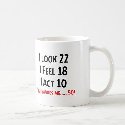 Funny 50th unique design classic white coffee mug zazzle for Coffee mugs unique design