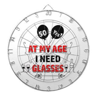 Funny 50th year birthday gift dart board