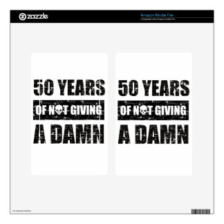 Funny 50th year birthday gift decals for kindle fire