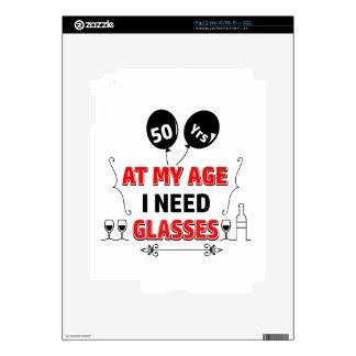 Funny 50th year birthday gift iPad 2 skin