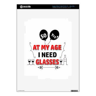 Funny 50th year birthday gift iPad 3 decal