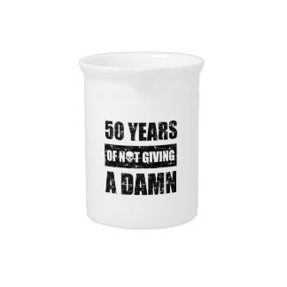 Funny 50th year birthday gift pitcher