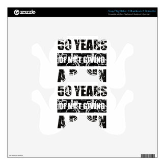 Funny 50th year birthday gift skins for PS3 controllers