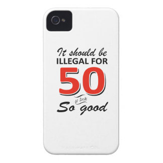 Funny 50th year old birthday designs Case-Mate iPhone 4 case