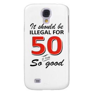 Funny 50th year old birthday designs galaxy s4 cover