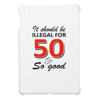 Funny 50th year old birthday designs iPad mini cases