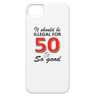 Funny 50th year old birthday designs iPhone SE/5/5s case