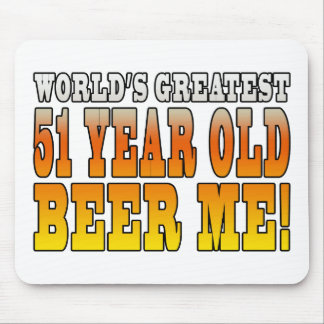 Funny 51st Birthdays : Worlds Greatest 51 Year Old Mouse Pad