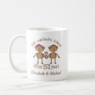 Funny 51st Wedding Anniversary Personalized Gifts Coffee Mug
