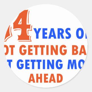 funny 54 years old birthday design classic round sticker