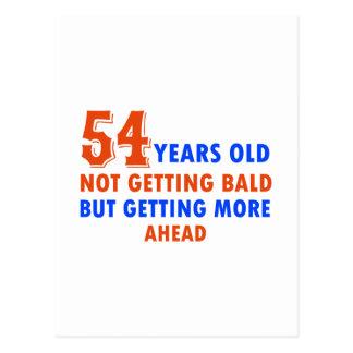 funny 54 years old birthday design postcard