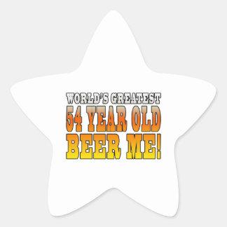 Funny 54th Birthdays : Worlds Greatest 54 Year Old Star Sticker