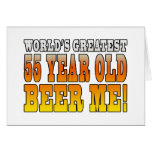 Funny 55th Birthdays : Worlds Greatest 55 Year Old Stationery Note Card