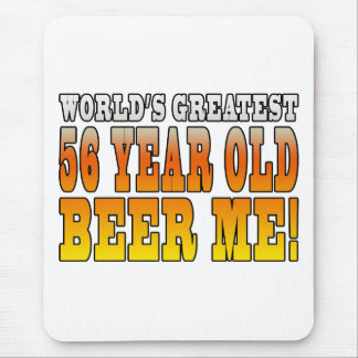 Funny 56th Birthdays : Worlds Greatest 56 Year Old Mouse Pad