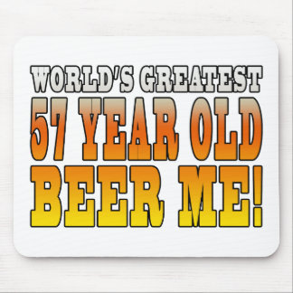 Funny 57th Birthdays : Worlds Greatest 57 Year Old Mouse Pad