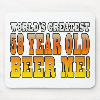 Funny 58th Birthdays : Worlds Greatest 58 Year Old Mouse Pad