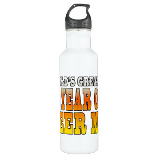 Funny 58th Birthdays : Worlds Greatest 58 Year Old 24oz Water Bottle