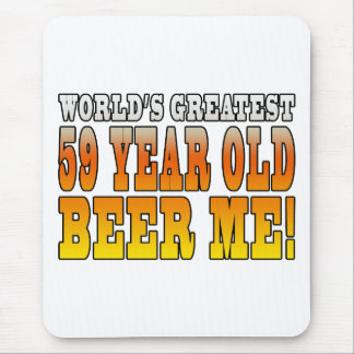 Funny 59th Birthdays : Worlds Greatest 59 Year Old Mouse Pad