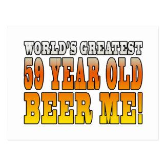 Funny 59th Birthdays : Worlds Greatest 59 Year Old Postcard