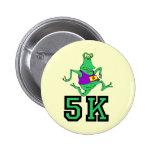 Funny 5K alien running Buttons