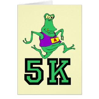 Funny 5K alien running Card
